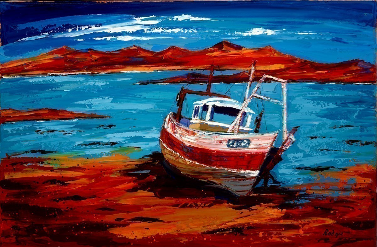 Waiting in the Bay III by Lynn Rodgie -  sized 30x20 inches. Available from Whitewall Galleries